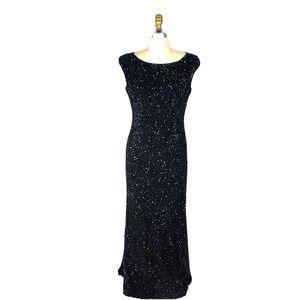 Marina Rinaldi Black Sequins GownFull Length